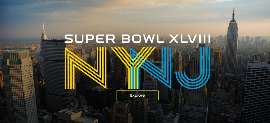 Super Bowl week 2014, in New York and New Jersey.